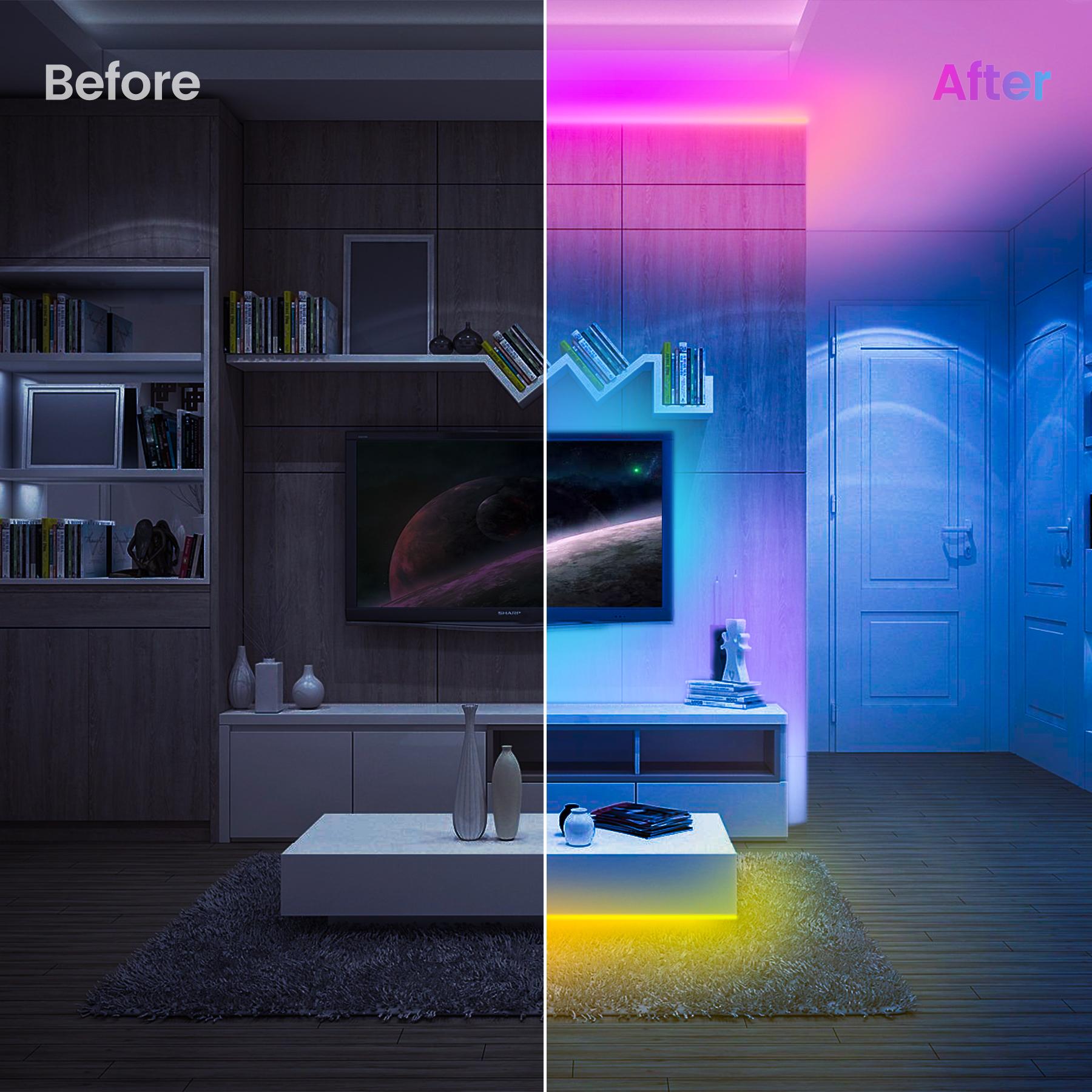 OSSLOVE 300LEDs RGB Color Changing LED Lights for Room